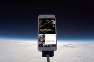 The Lad Bible app in space