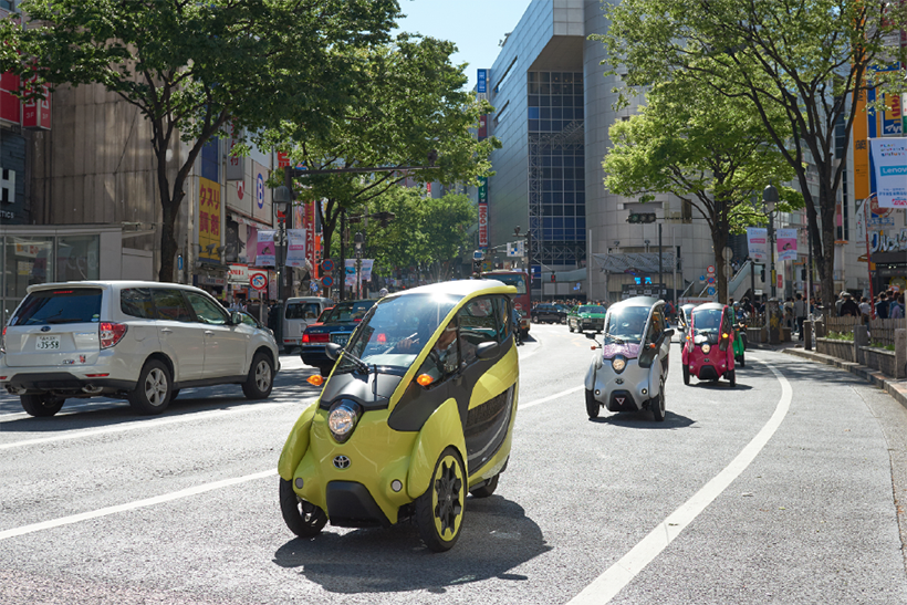 For Toyota's Open Road Project Dentsu created a network of small parking spaces for Toyota's ultra-small vehicles