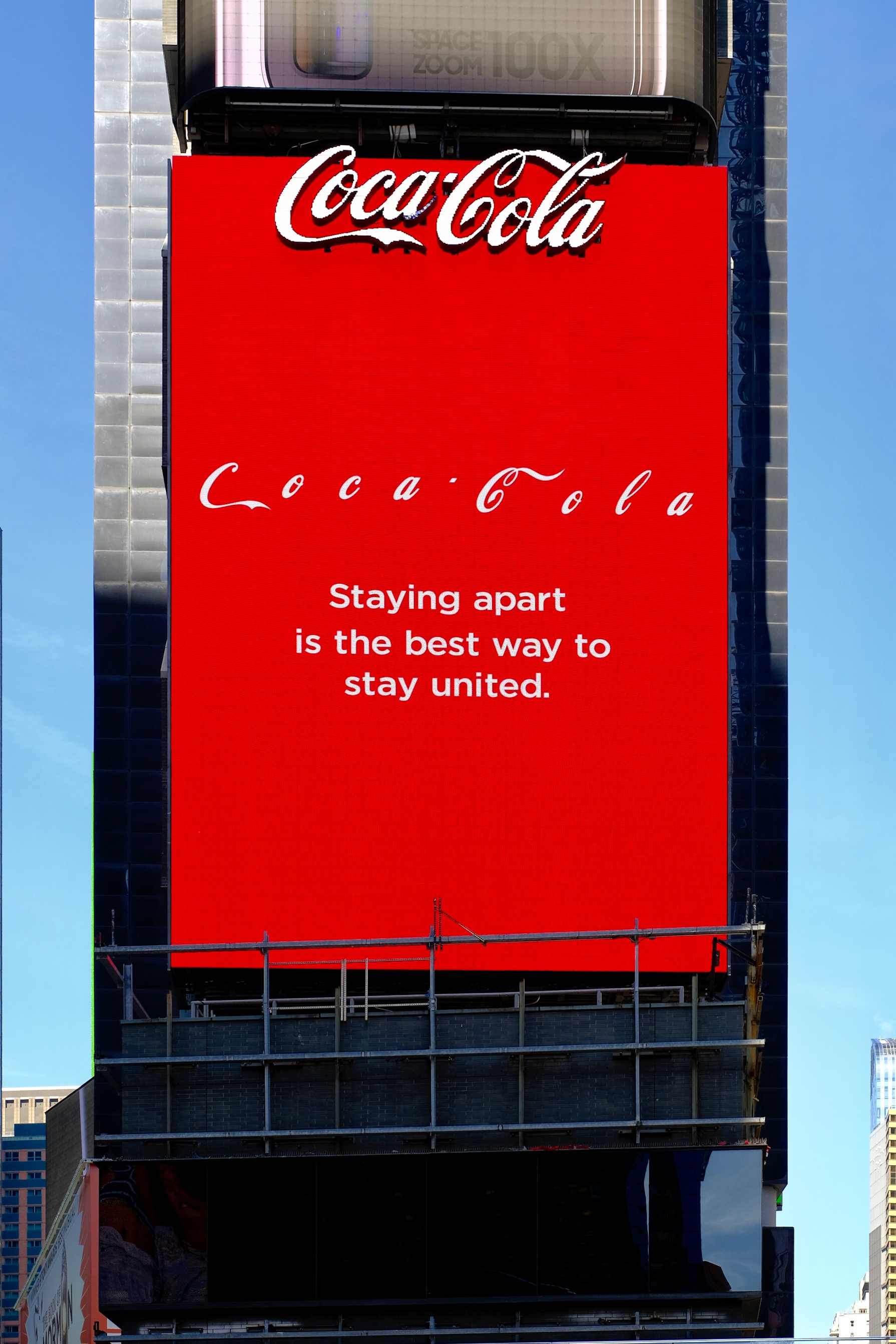 Coca-Cola: brand launched activation in Times Square