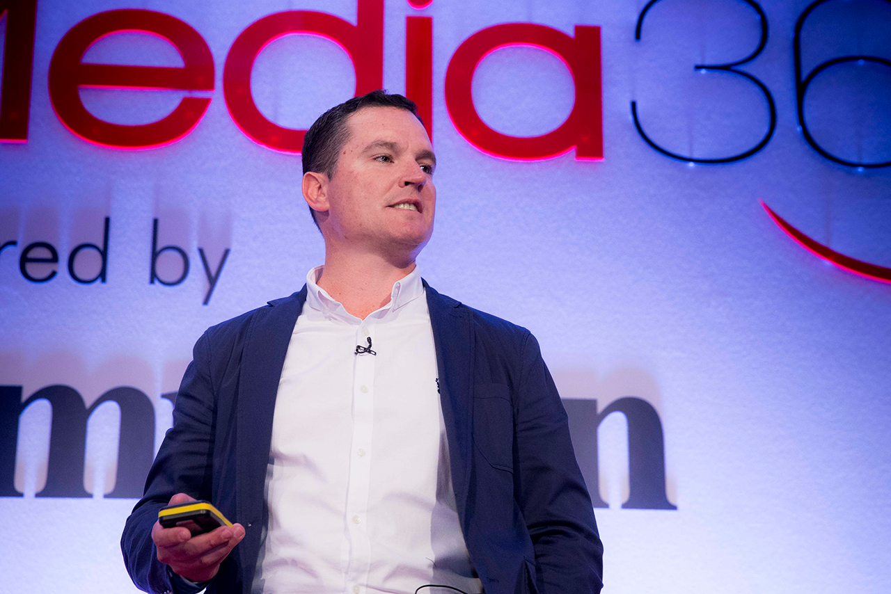Wiles on stage at Media360