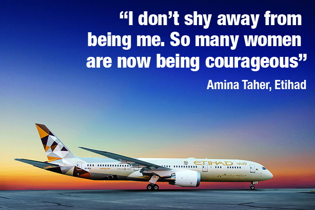 Etihad Amina Taher quote