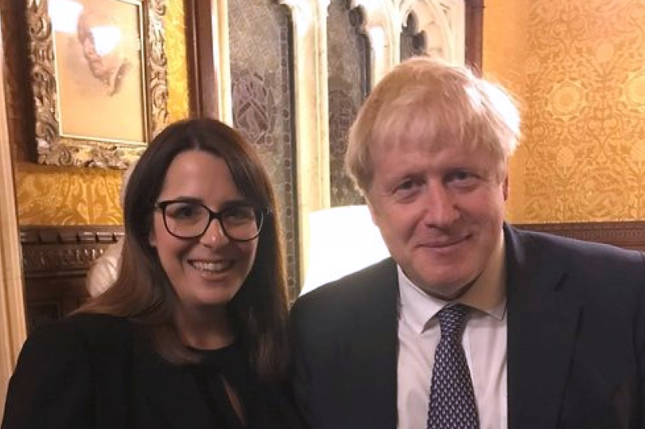 Fay Jones, Conservative candidate for Brecon and Radnorshire, with Prime Minister Boris Johnson