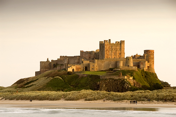 Bamburgh Castle, Northumberland. Pic credit: Getty Images