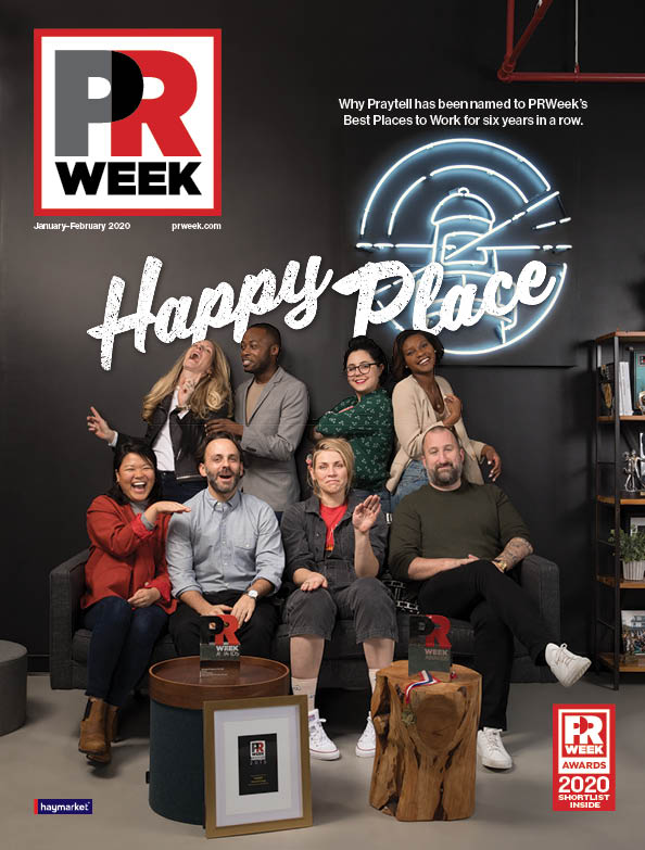 the January/February 2020 cover of PRWeek