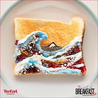 Tefal pop-up toast art