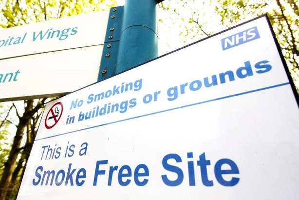 Public Health England is urging NHS to go smokefree