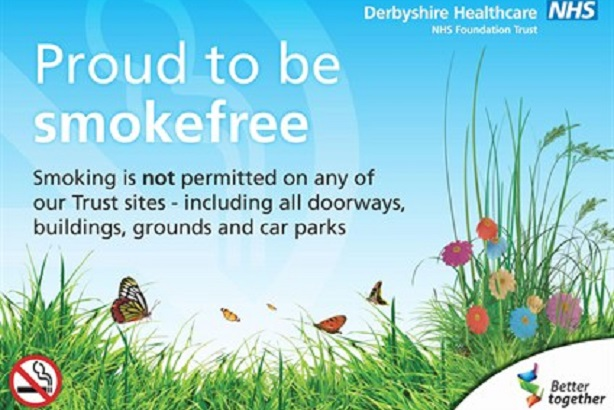 Derbyshire is among NHS Trusts to go smokefree