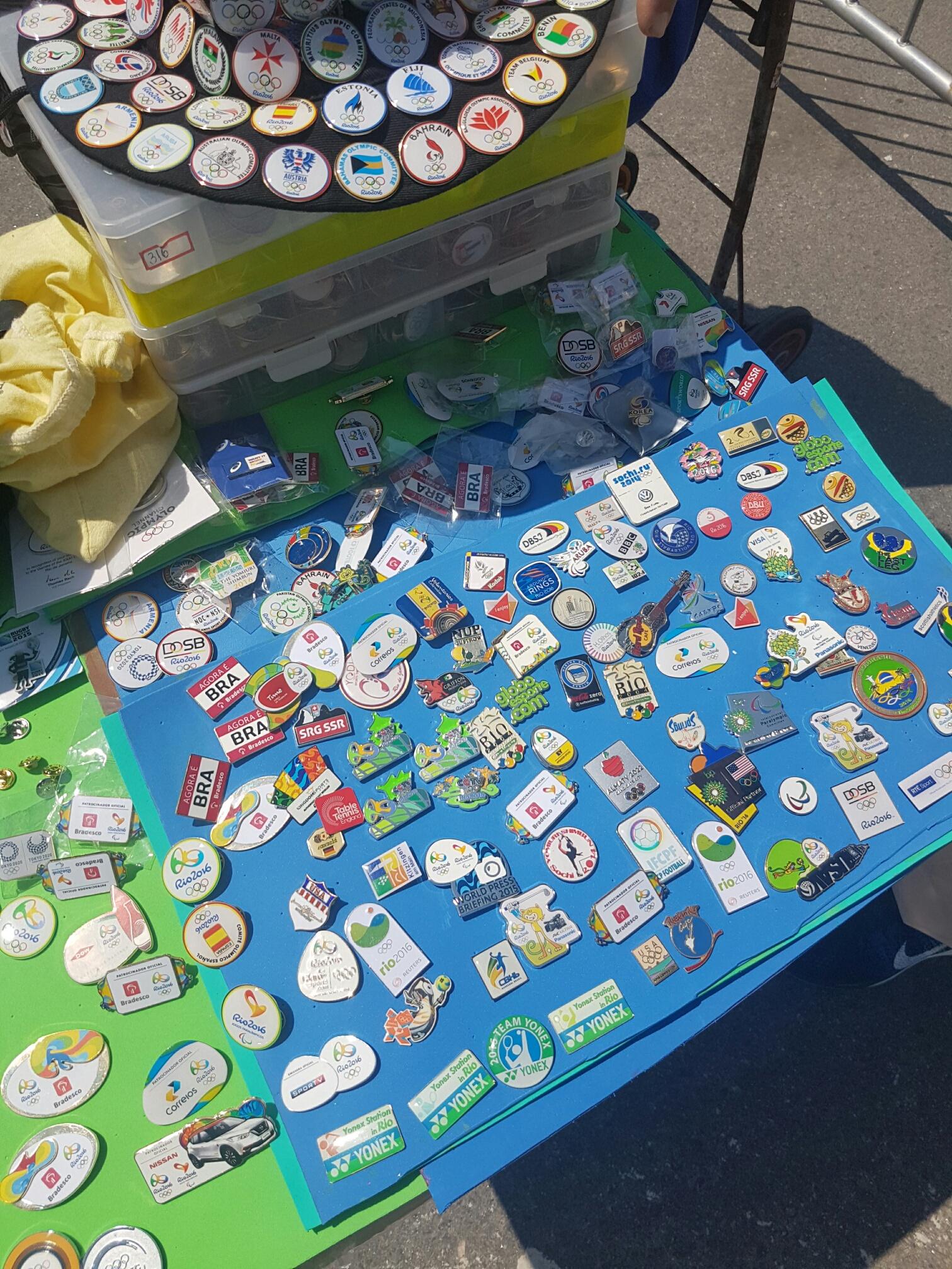 Rio 2016 pins