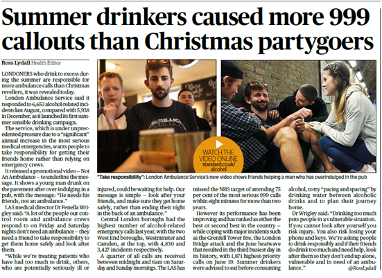 Coverage for the campaign in The Standard