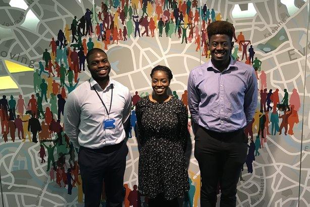 Johua Burrell, Sylvia Mannah and Tuminu Onagoruwa