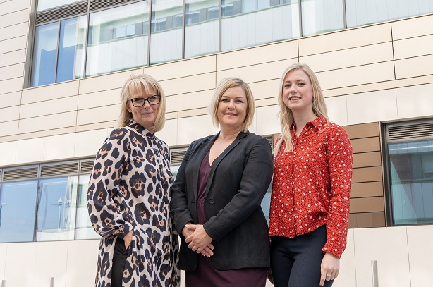 L-R: Diane Wood, Lauren Mills and Lucy Wharton make up the dedicated PR team at V Formation.
