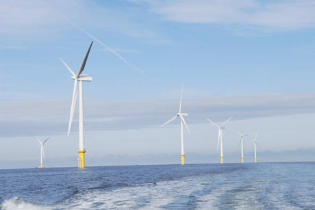 Wind power: DONG Energy's offshore wind farm in Liverpool Bay