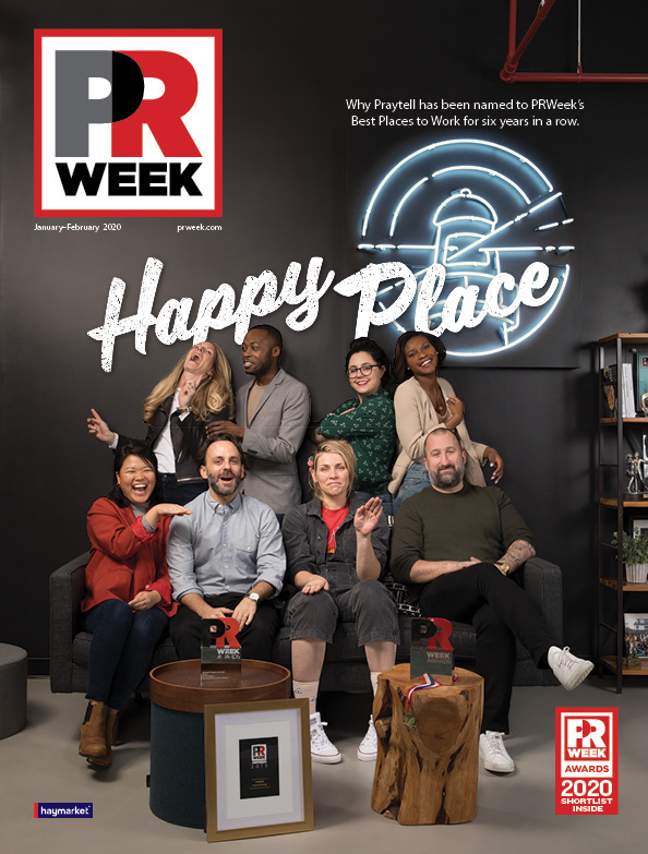 PRWeek January/February 2020 cover featuring Praytell