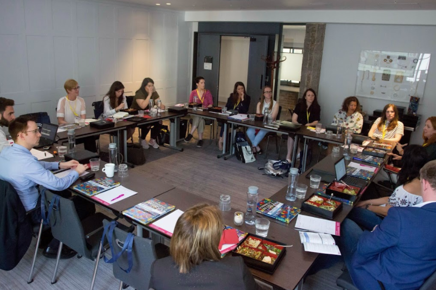 The group discuss the blurring lines between PR and marketing