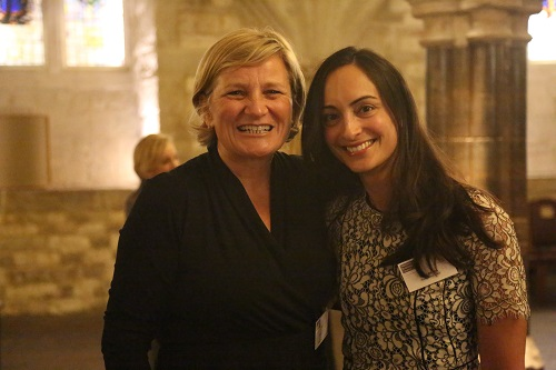 Cilla Snowball, chair of the Women's Business Council, with MT's features editor Kate Bassett