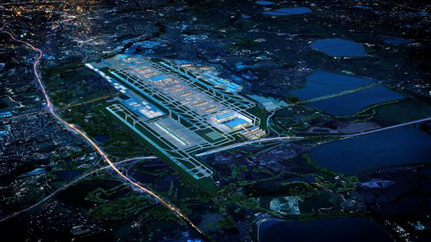 What the proposed third runway would look like at night
