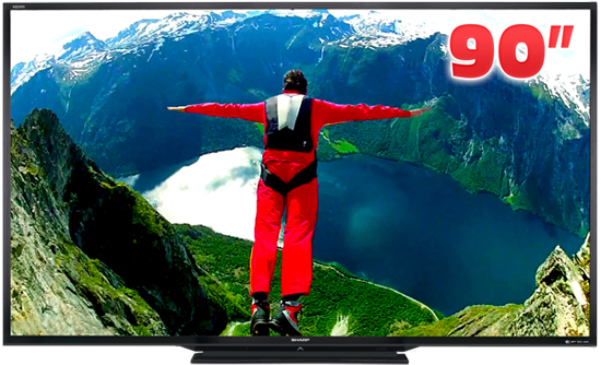 Sharp's 90-inch TV weighs 64kg and costs £12,000