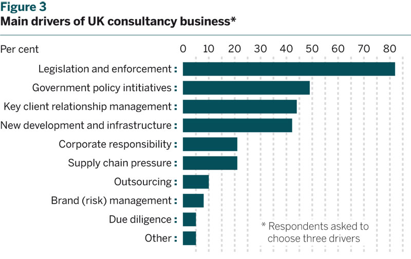 Figure 3: Main drivers of UK consultancy business