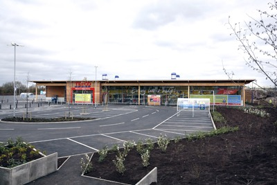 Tesco's zero carbon store in Ramsey, Cambridgeshire