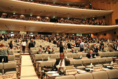 The COP10 conference chamber (photo: Government of Japan)