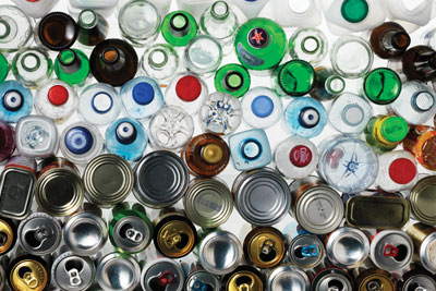 Bottles and tins. Courtesy of WRAP
