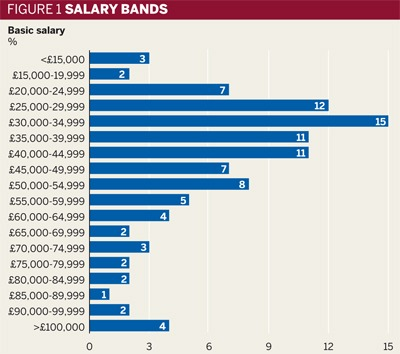 Figure 1: Salary bands