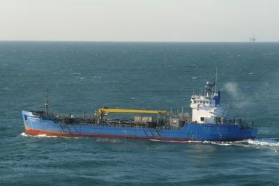 A tanker after delivering fuel (CC AS 3.0 BoH)