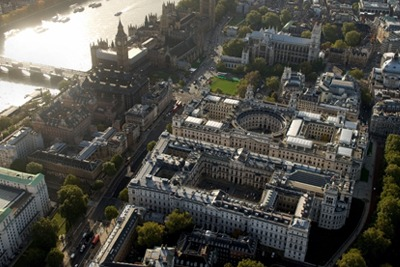 Aerial view of Whitehall (credit: Alamy / Mike Hughes)