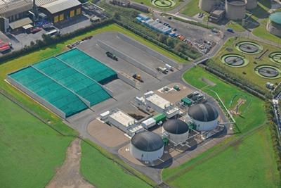 Severn Trent Water's 2.1 megawatt anaerobic digestion plant at Stoke Bardolph
