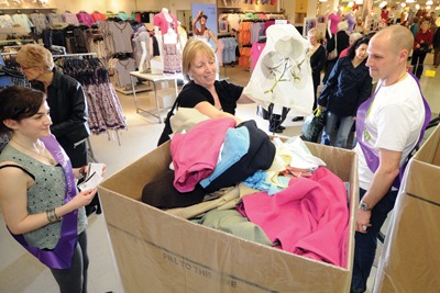 M&S shoppers exchange clothes (credit: Marks & Spencer)