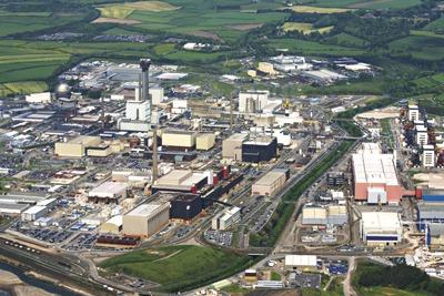 A leukaemia cluster was found near the Sellafield nuclear reprocessing complex (credit: Sellafield Ltd)
