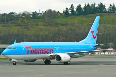 Thomson aircraft on tarmac (credit: Thomson)