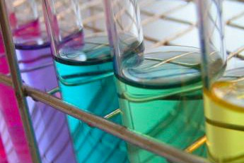 Chemicals in test tubes