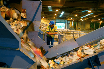 Fees for materials recovery facilities are now just £9 per tonne on average, down from £15/t last year (photograph: Sita)