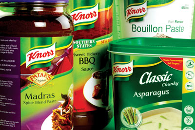 A Unilever study is trying to help consumers of its products, such as its Knorr range, reduce food waste