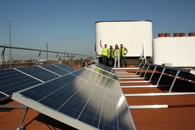 A community solar project at Brixton, south London (photograph: Southern Solar)