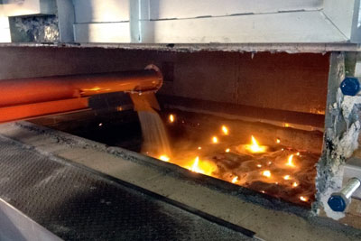 A furnace designed to help extract lead from CRT glass. Credit: SWEEEP Kuusakoski