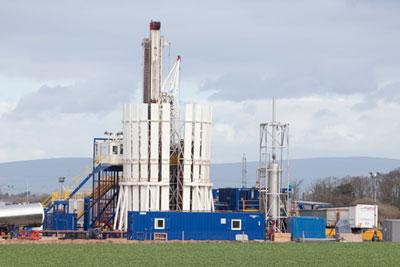 Shale gas fracking rig