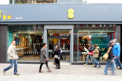 Everything Everywhere has around 600 UK stores and 27 million users