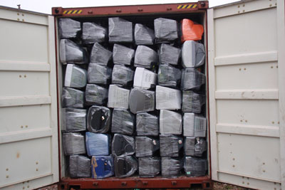 Two more men have been sentenced in a complex case involving illegal WEEE exports to developing countries (photograph: Environment Agency)
