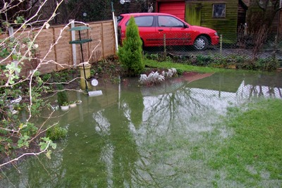 Thames Water's 2003 sewage spill flooded gardens and allotments (credit: Environment Agency)