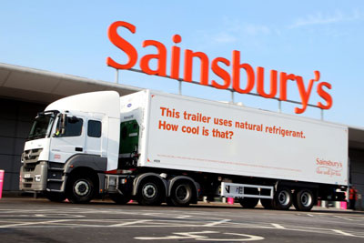 Sainsbury's new refrigerated lorry will cool using Co2. Credit: Sainsbury's