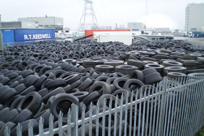 Skinner stored about 45,000 tyres at his site (credit: Environment Agency)
