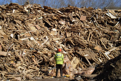 Rory Theaker pleaded guilty to operating wood waste facilities in Mansfield and Sheffield without an environmental permit (photograph by: Environment Agency)