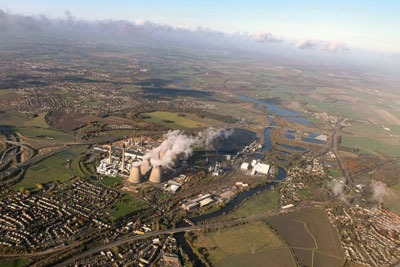 Large combustion plant in UK. Credit: Jon MCL
