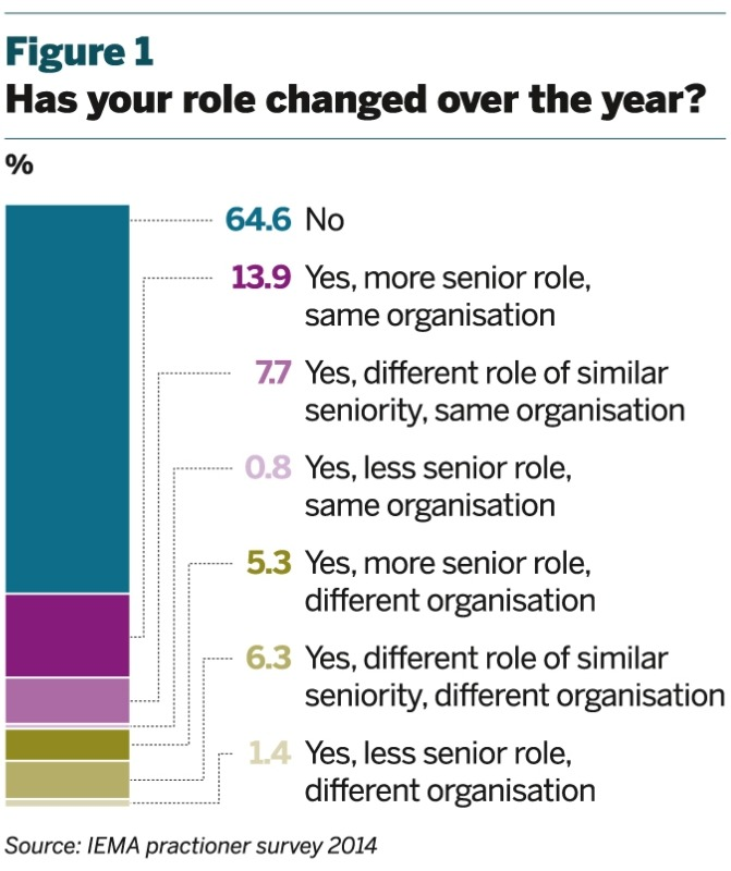 Figure 1: Change in roles over past year
