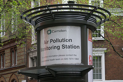There is a network of local air pollution monitoring stations throughout the UK (credit: shirokazan CC BY 2.0)