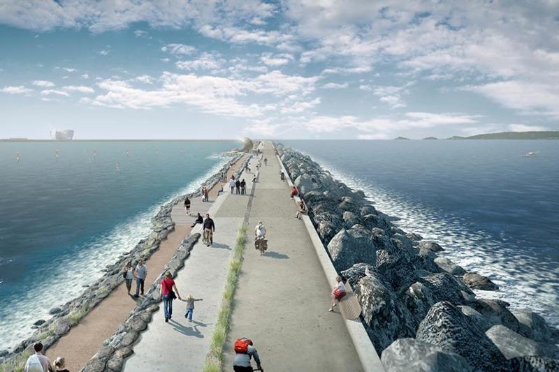 Artist's impression of Swansea tidal lagoon