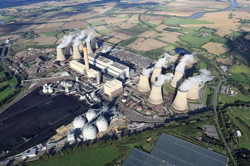 Engineers claim Drax will become 'largest and greenest' with new abatement systems (photograph: Drax)
