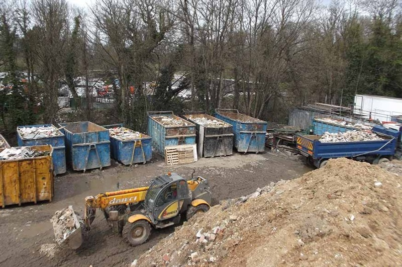 Feely Skip & Grab Hire dumped thousands of tonnes of construction and demolition waste in Surrey (photo: Environment Agency)